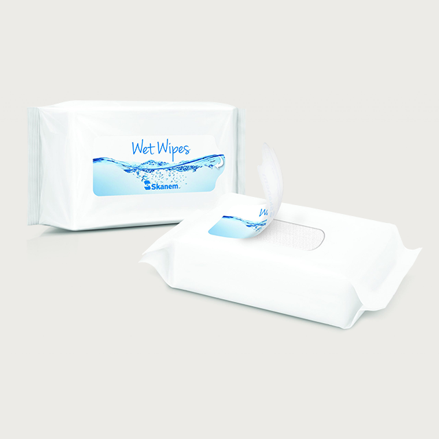 2 Pakker wet wipes med återförslutningsetiketter